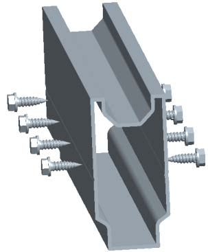 rail splice for grounf mount system
