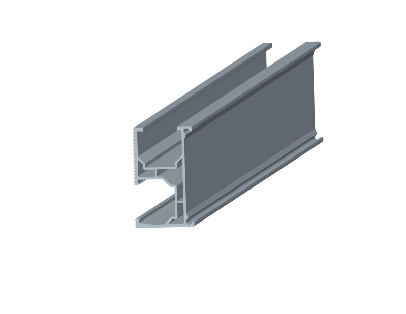 Rail for Triangle flat roof mounting system