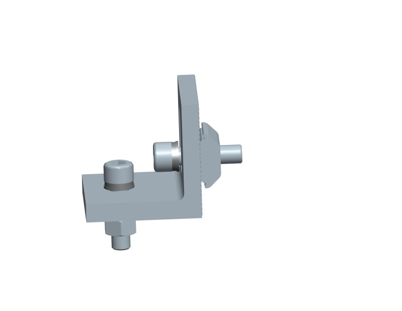Rail clamp for triangle flat roof mounting system