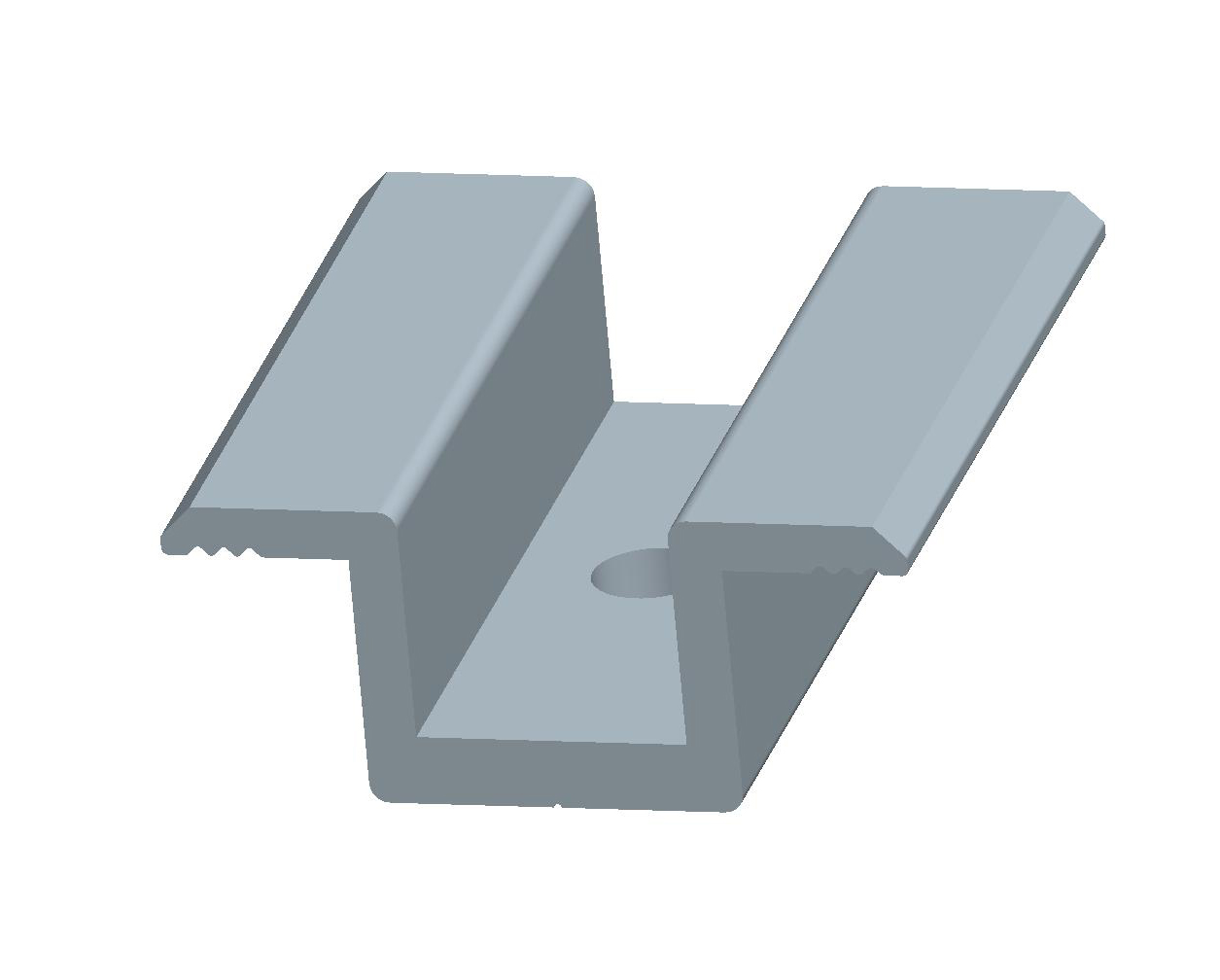 Eend and inter clamp for railless ballasted roof mounting system