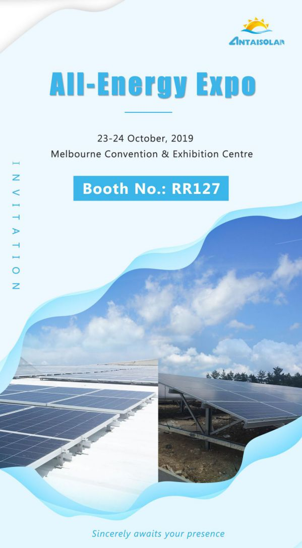 Antaisolar wiil be in All Energy Australia in October
